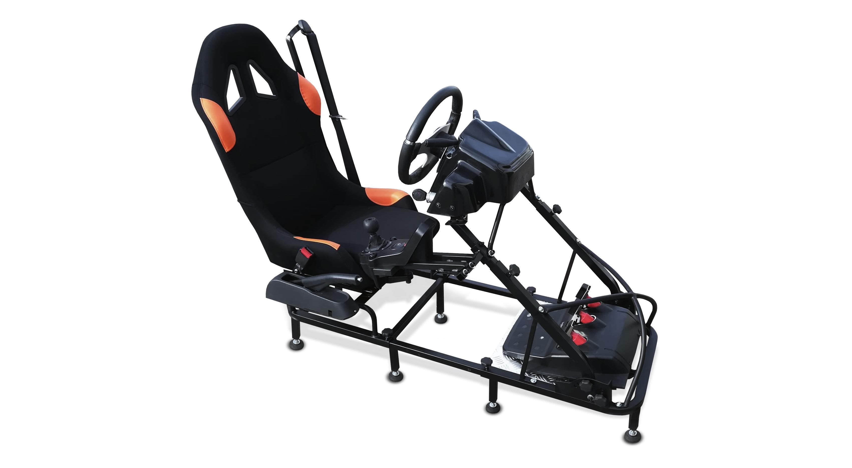 Simulador de conducción de autoescuela.