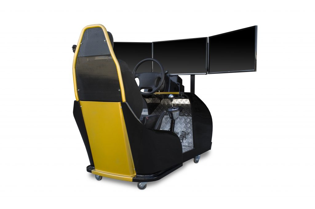 Driving simulator cockpit for Road Safety training
